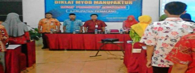 Diklat MYOB Manufaktur dengan Guru-Guru SMK Akuntansi se-Kabupaten Pemalang